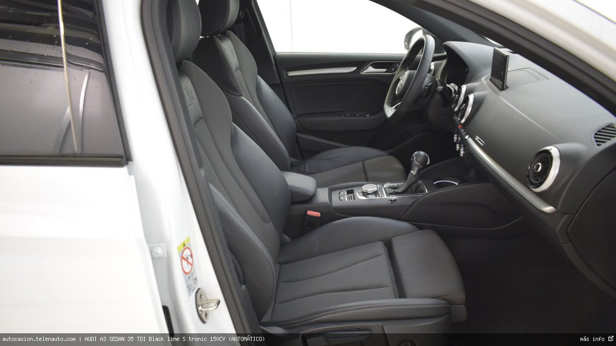Audi A3 sedan 35 TDI Black line S tronic 150CV (AUTOMÁTICO) Diesel seminuevo de segunda mano 8
