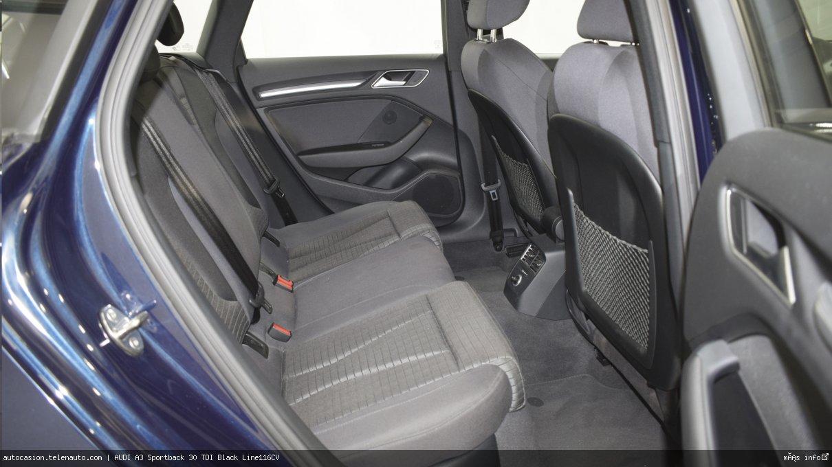 Audi A3 Sportback 30 TDI Black Line116CV Diesel de segunda mano 12