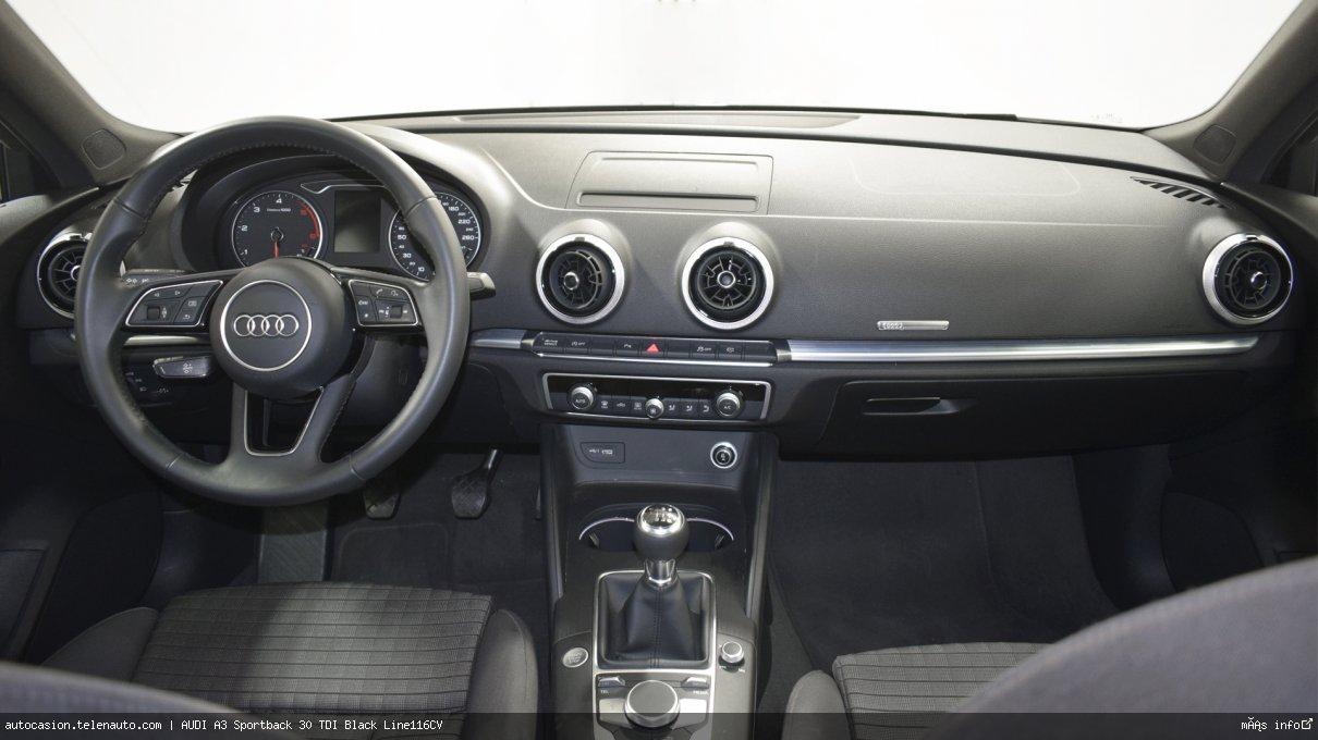 Audi A3 Sportback 30 TDI Black Line116CV Diesel de segunda mano 9