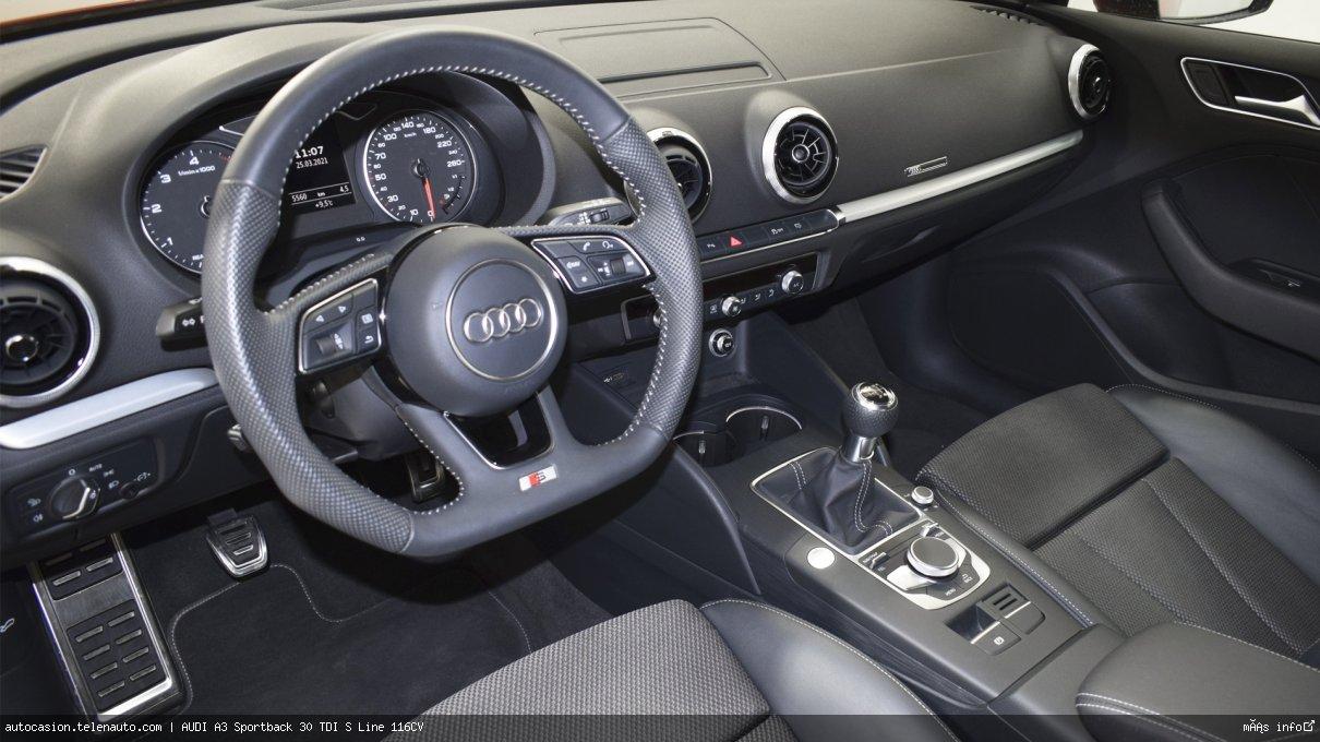 Audi A3 Sportback 30 TDI S Line 116CV Diesel kilometro 0 de segunda mano 11