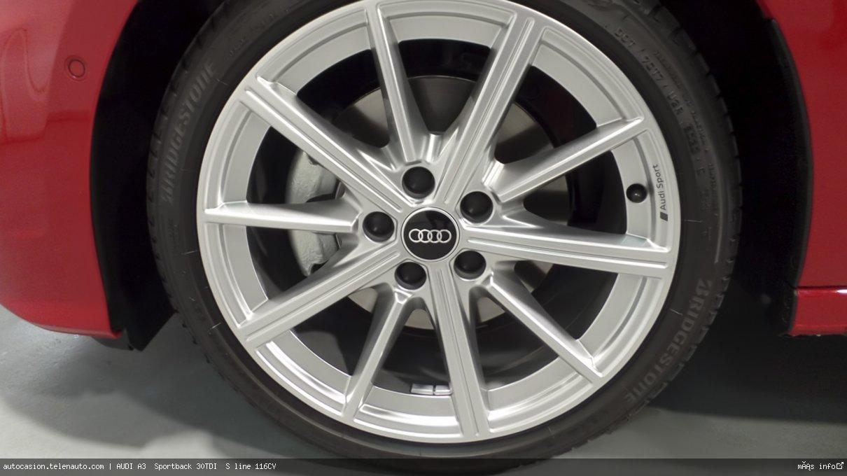 Audi A3  Sportback S line 35 TDI S tronic  150CV (AUTOMÁTICO) Diesel kilometro 0 de segunda mano 7