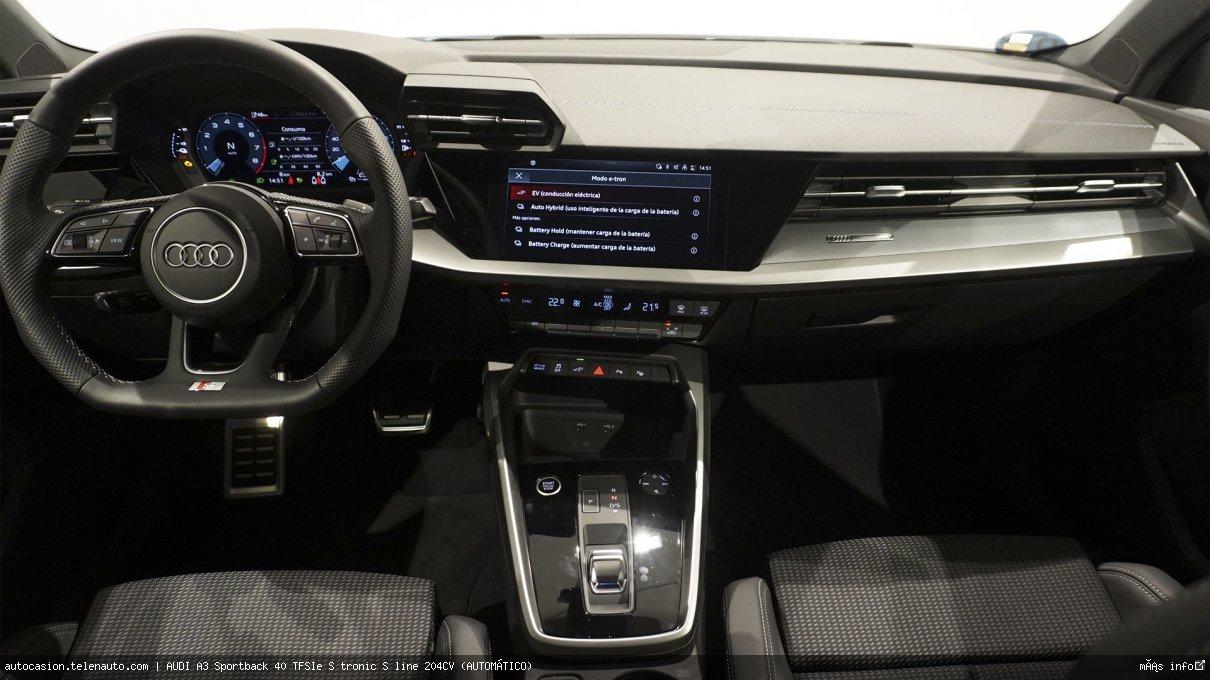 Audi A3 Sportback 40 TFSIe S tronic S line 204CV (AUTOMÁTICO) Hibrido kilometro 0 de ocasión 9