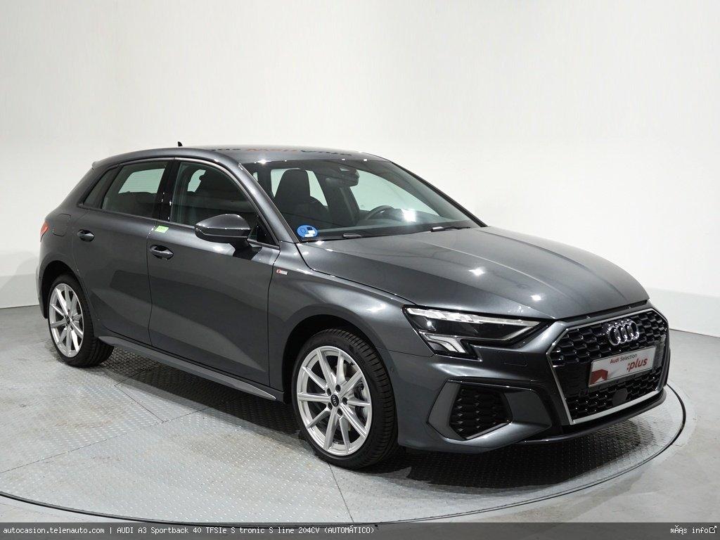 Audi A3 Sportback 40 TFSIe S tronic S line 204CV (AUTOMÁTICO) Hibrido kilometro 0 de ocasión 1