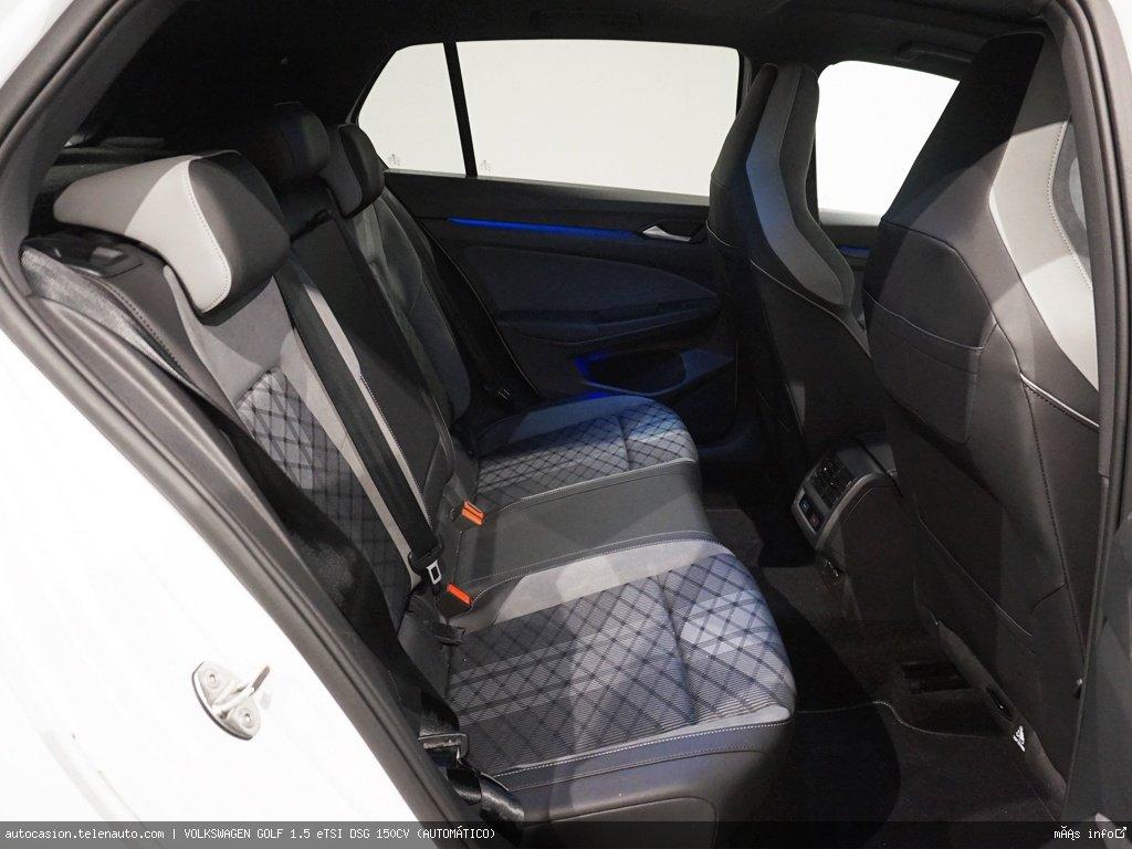 Volkswagen Golf 1.5 eTSI DSG 150CV (AUTOMÁTICO) Hibrido kilometro 0 de segunda mano 12
