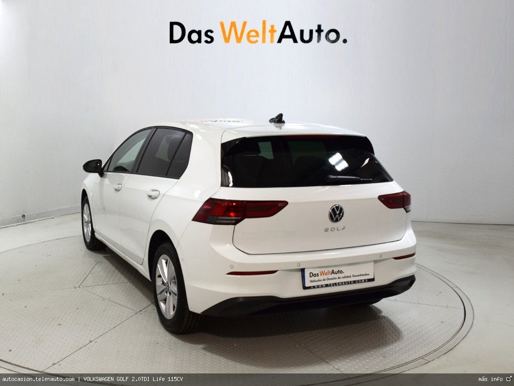 Volkswagen Golf 2.0TDI Life 115CV Diesel kilometro 0 de ocasión 2