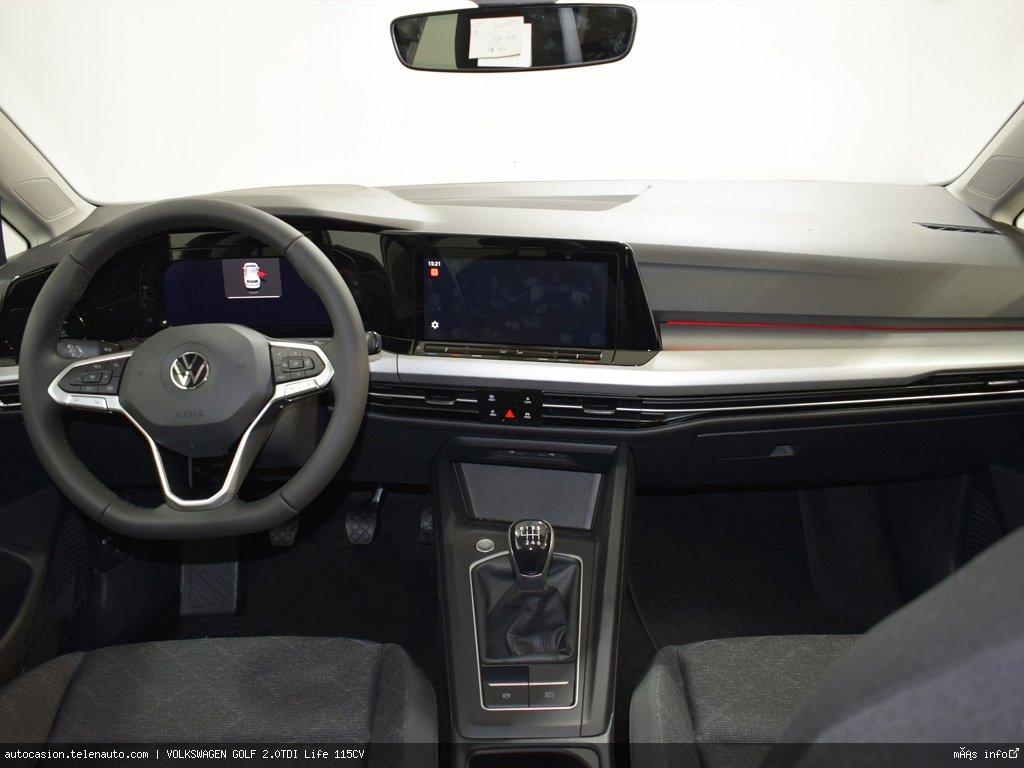 Volkswagen Golf 2.0TDI Life 115CV Diesel kilometro 0 de ocasión 8