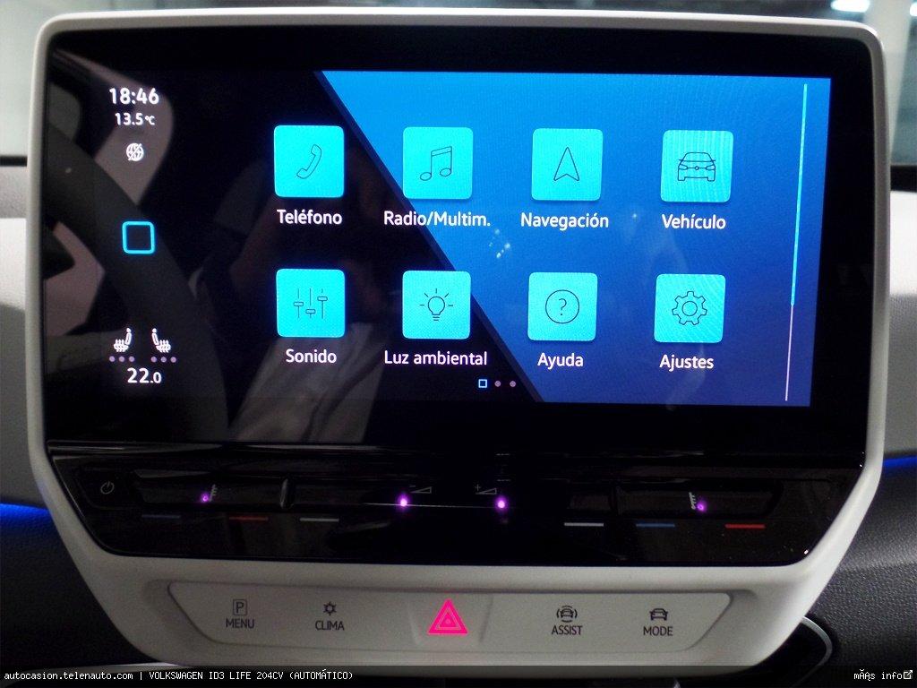 Volkswagen Id3 LIFE 204CV (AUTOMÁTICO) Electrico seminuevo de ocasión 8