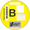 distintivo medioambiente DGT: B